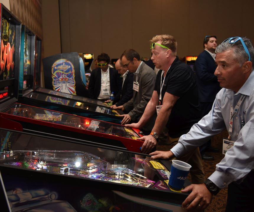 Fun pinball games at Amerimold 2018