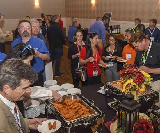 Yummy buffet at Amerimold 2018