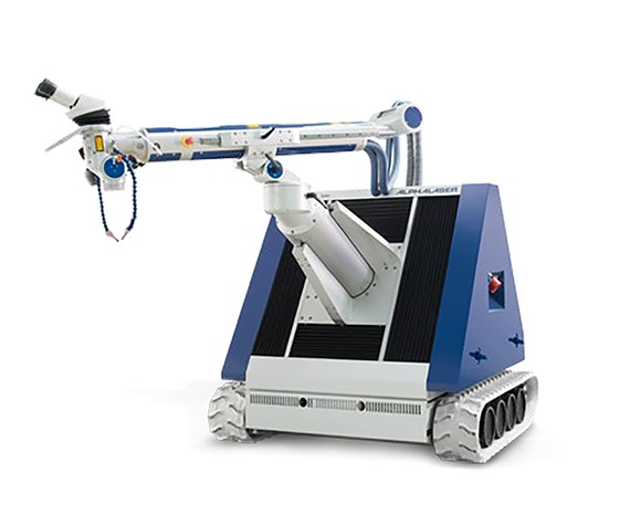 With its extremely short setup times and mobility, the ALM laser welder from Alpha Laser allows large molds to be repaired anywhere in the shop.