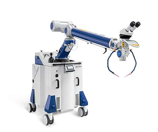 With its extremely short setup times and mobility, the ALM laser welder allows large molds to be repaired anywhere. Just move the ALM laser welder into position, secure the laser area, aim the slim laser arm at the weld, and start welding.
