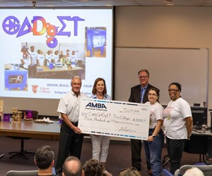 AMBA Chicago presents big check to GADgET program