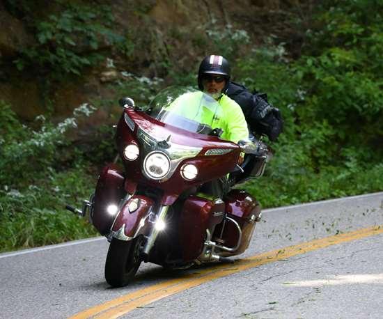 man on motor cycle