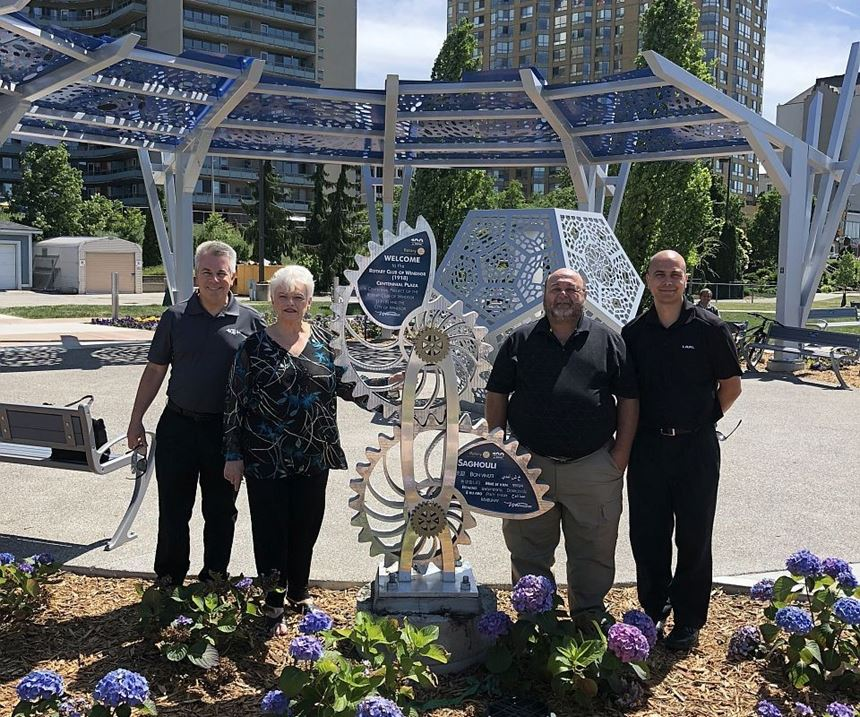 CAMM and Windsor Rotary at new Centennial Plaza