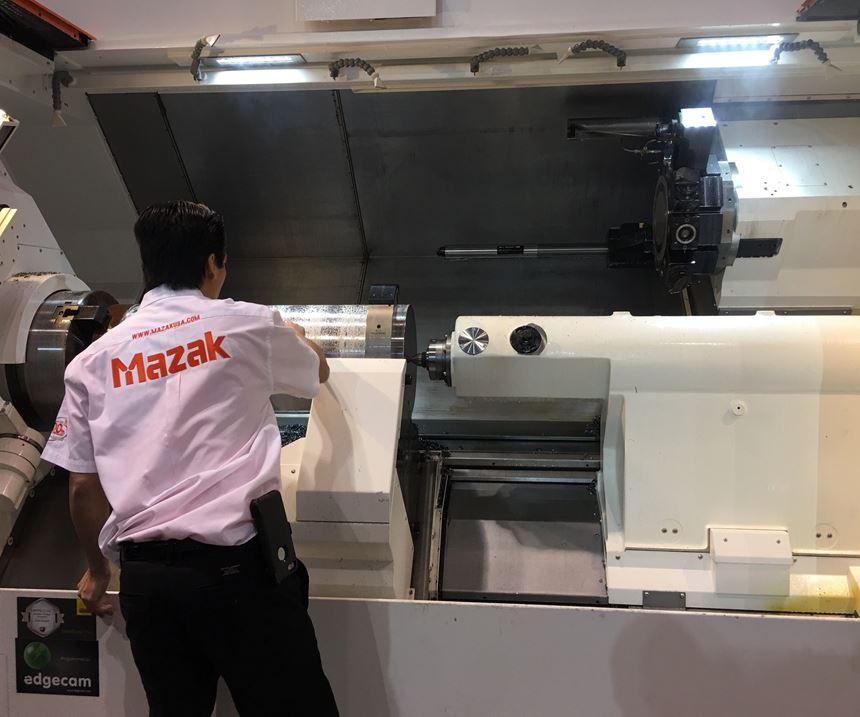 Mazak450MY opened at IMTS 2018