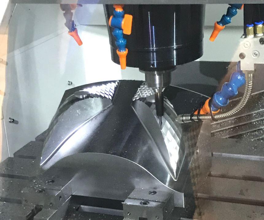Cutting tool in machine center finishing mold