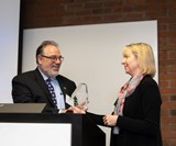 Wayne Hertlein receiving SPE Outstanding Member Award