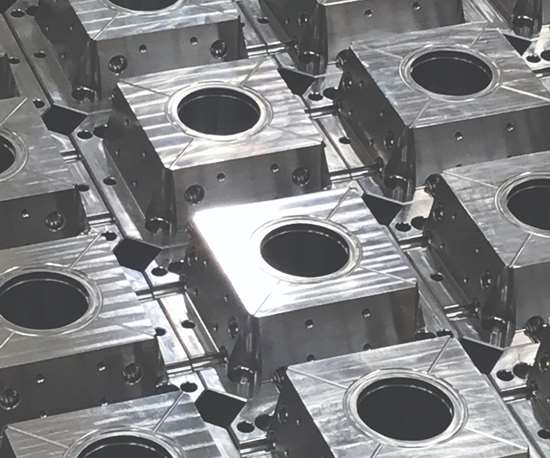 Mold components ready for heat treating at X-Cell Tool and Mold