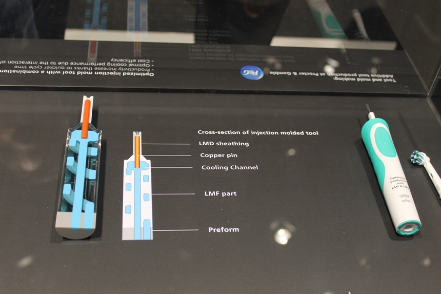 Trumpf LMF, LMD technology used to optimize an injection mold