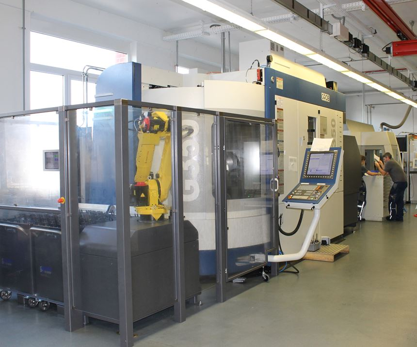 Lang automation solution with a Grob five-axis machining center