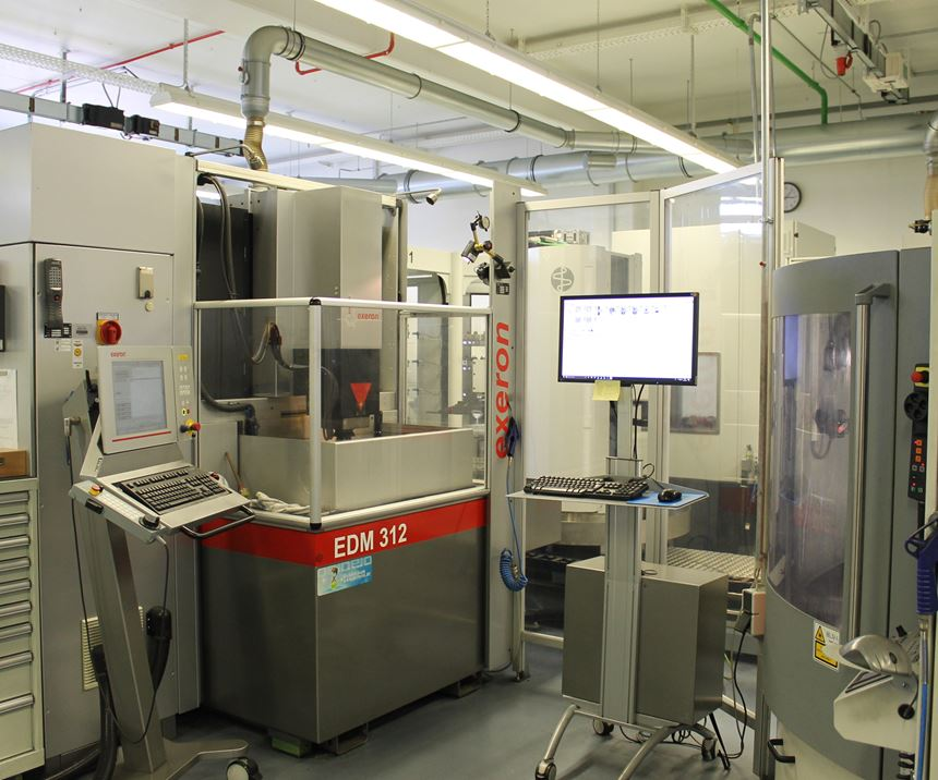 Exeron and Erowa EDM automated work cell