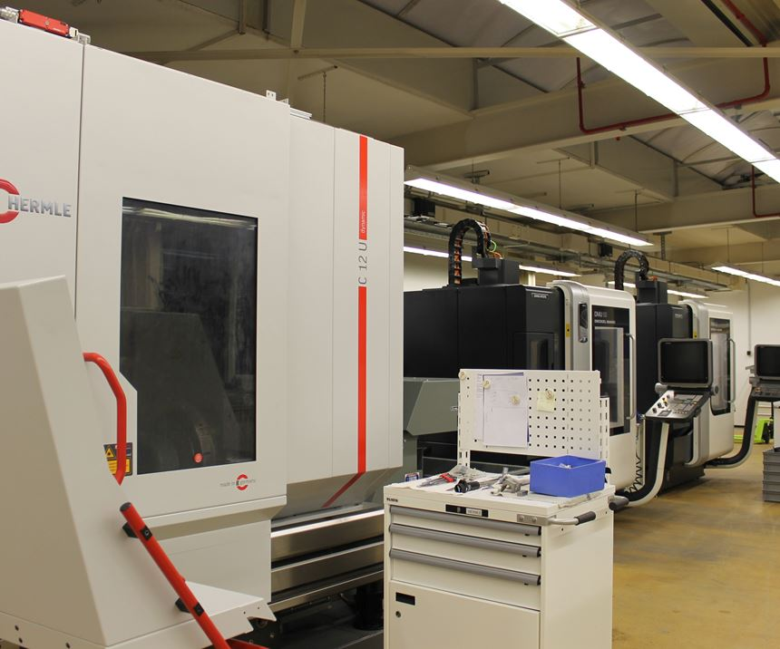 Hermle machining center at Aesculap