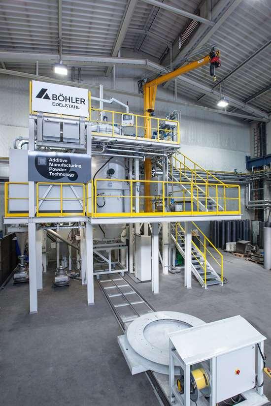 Am powder material atomization rig