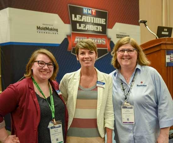 Heather Wintle, Christina Fuges and Cynthia Kustush from MoldMaking Technology Magazine