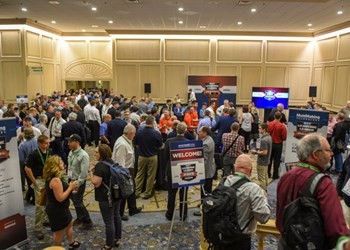 The crowd at Amerimold's Leadtime Leader Award reception 2019