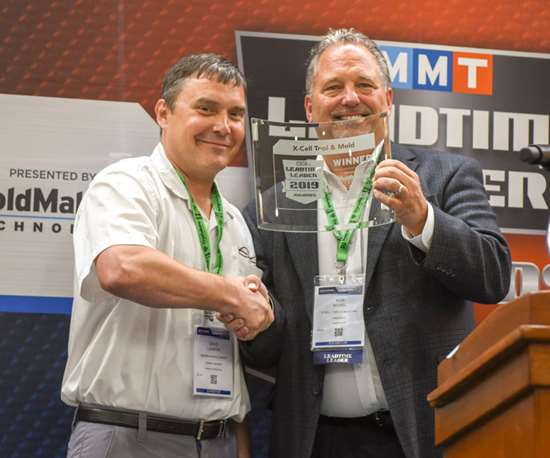 Ron Novel, president of X-Cell Tool and Mold, with David LaGrow of Maximum Mold Group