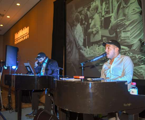 Dueling pianos at Networking Party, Amerimold 2019