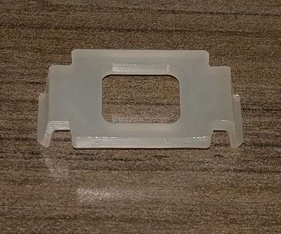 clear 3D printed part