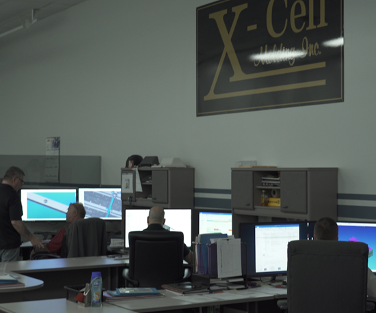Engineering department at X-Cell Tool and Mold.