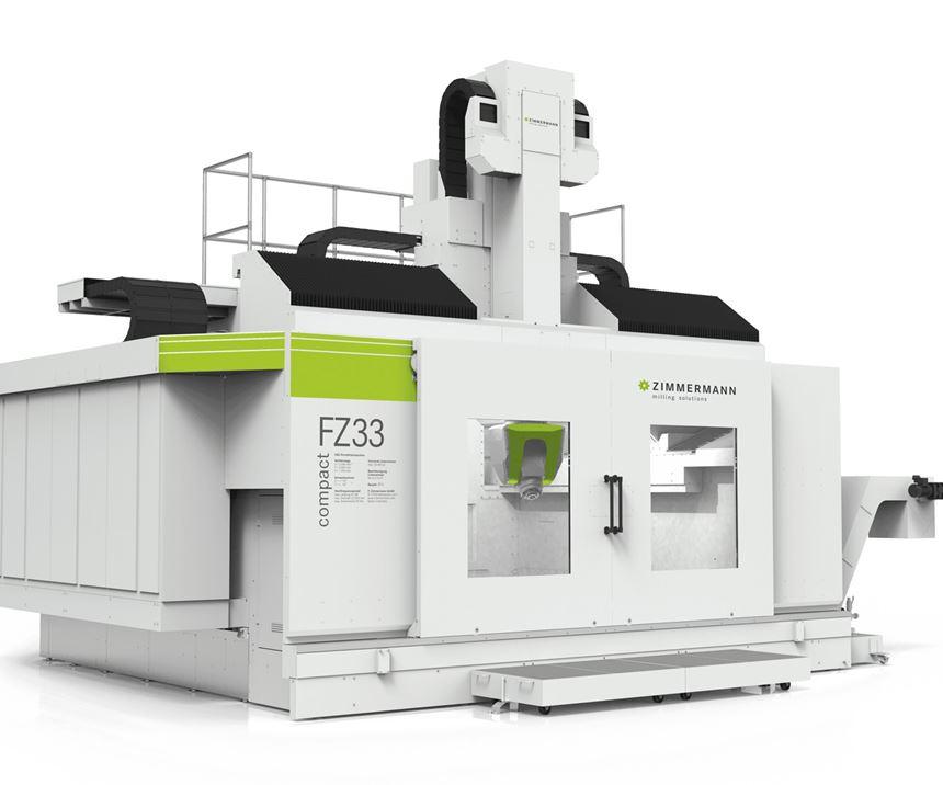 Zimmermann FZ33 Compact milling machine for moldmaking.