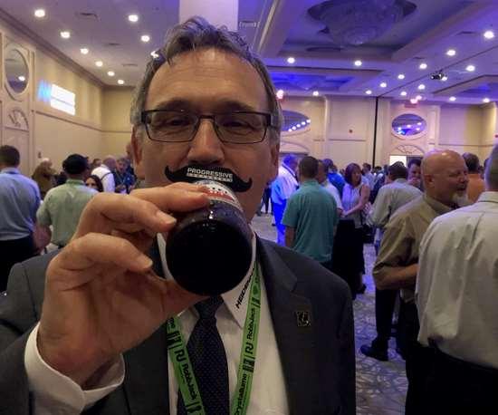 Heidenhain's Gisbert Ledvon at Amerimold 2019 Networking Party