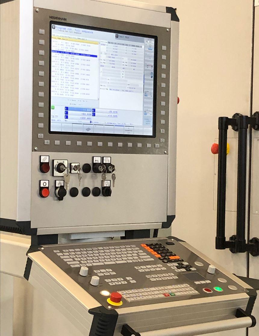 Heidenhain 640 Series Control on the Zimmermann FZ33c Milling Machine.