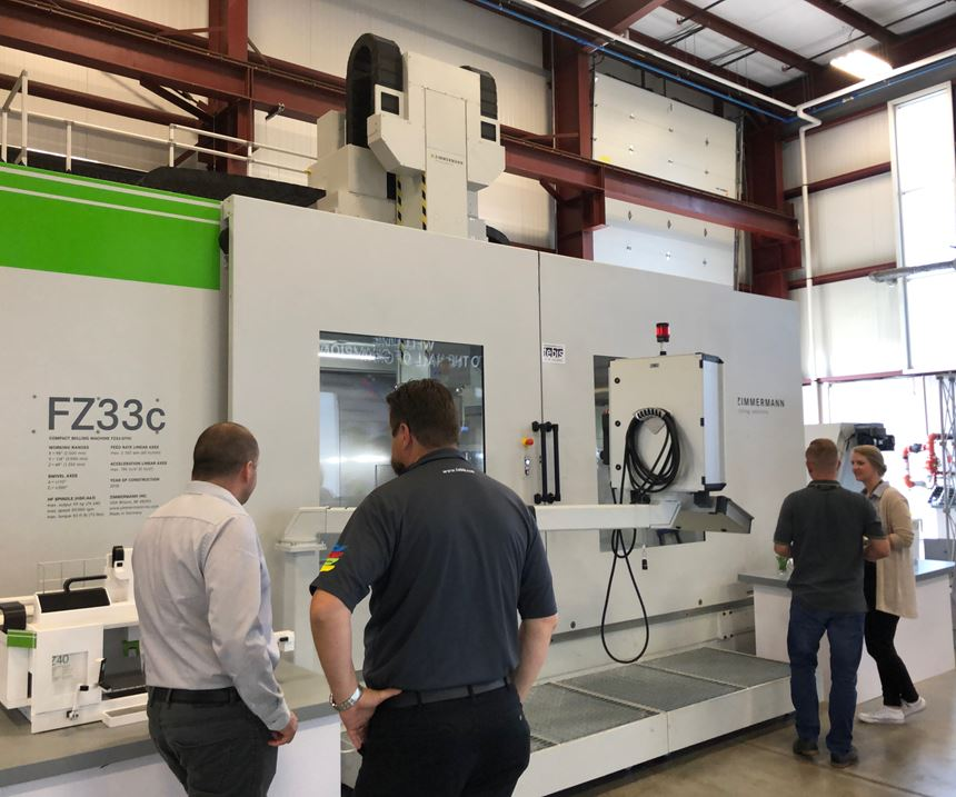 FZ33 Compact milling machine at Zimmermann Open House event