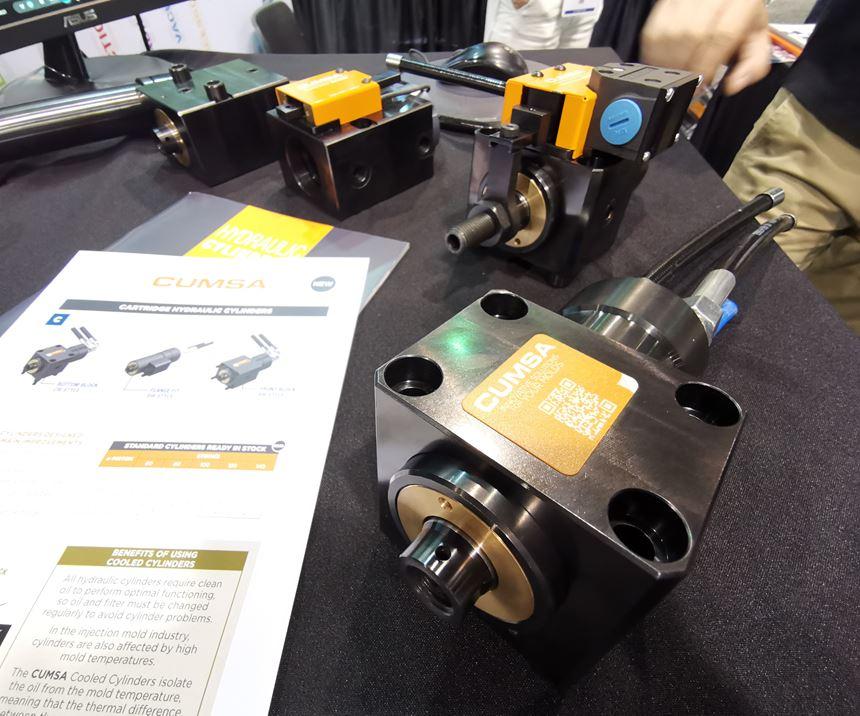 Cumsa cooled block hydraulic cylinders at Amerimold 2019