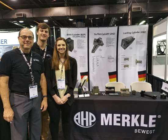Merkle Products on display by J&H Distributors at Amerimold