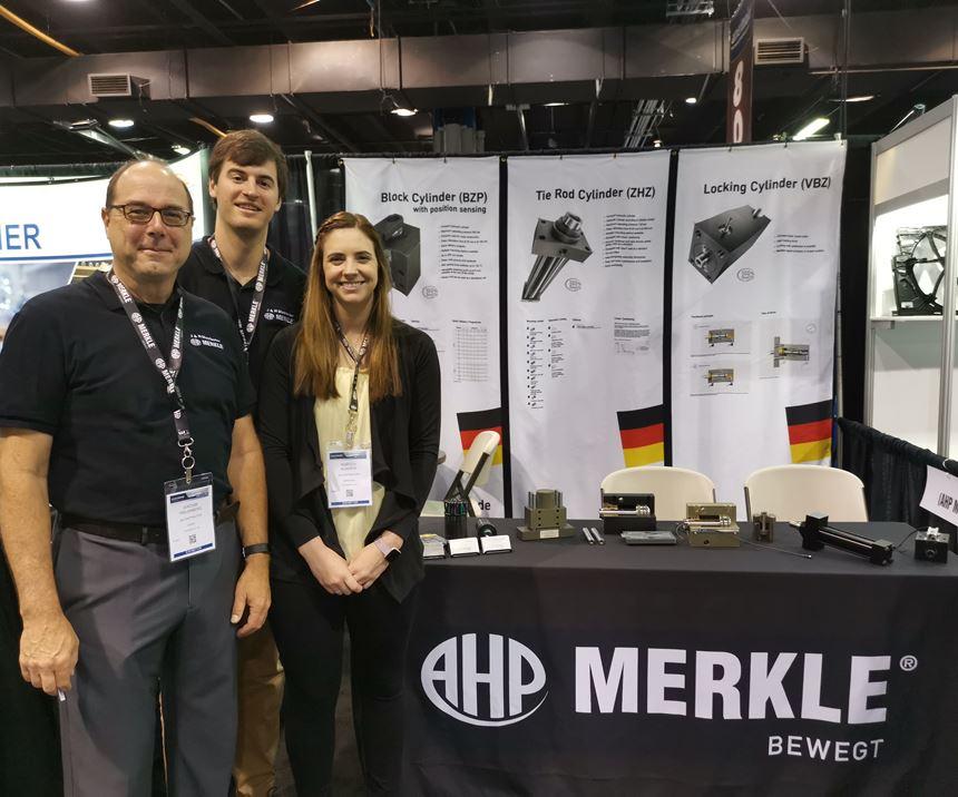 Merkle Products on display by J&H Distributors at Amerimold