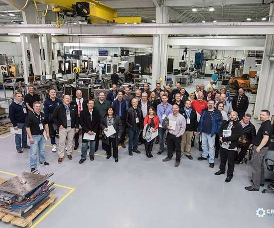 Tour group at Byrne Tool