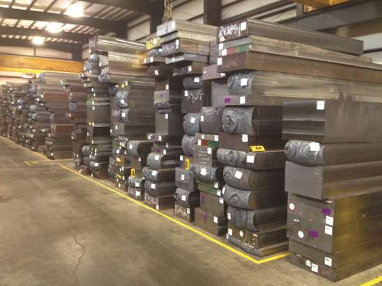 Blocks of steel used for manufacturing molds