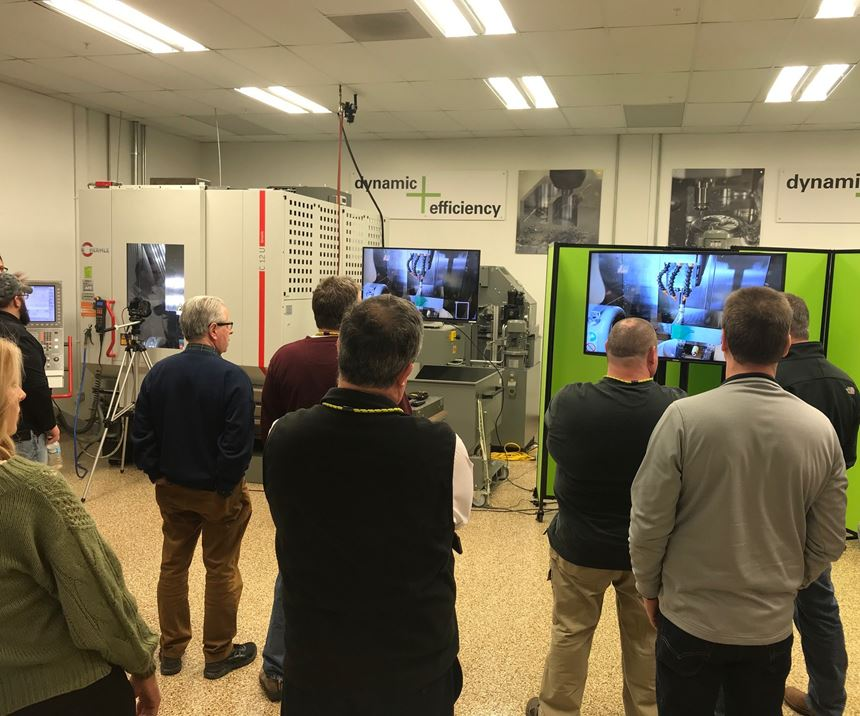 Five-axis workshop demonstrations at Heidenhain Corp.