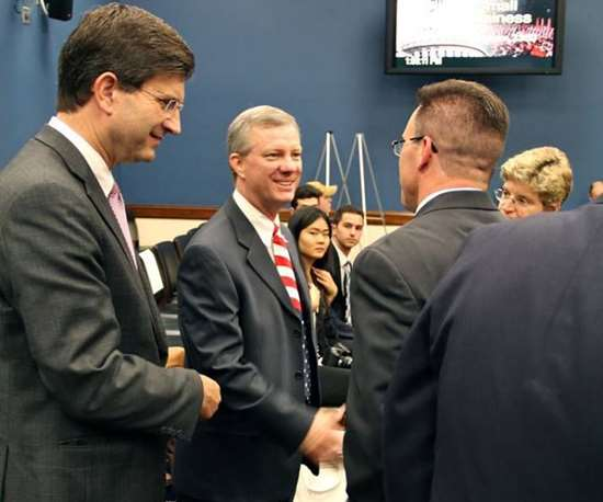 Terry Iverson greeted by members of the U.S. House of Representatives in 2013