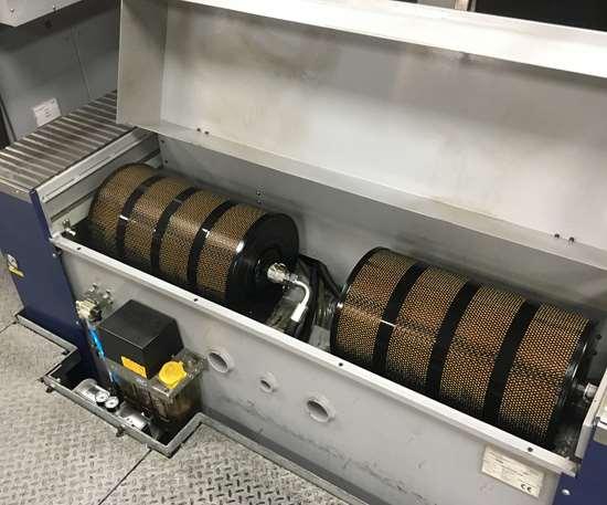 Filter compartment on OPS-Ingersoll Gantry Eagle 1200 sinker EDM machine