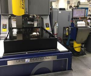 OPS Ingersoll Gantry Eagle 1200 sinker EDM machine at Viking Tool and Engineering Inc.