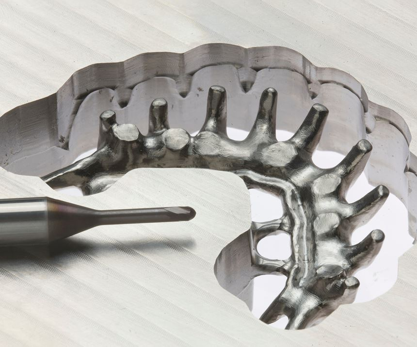 Dental mold with micro cutting tool