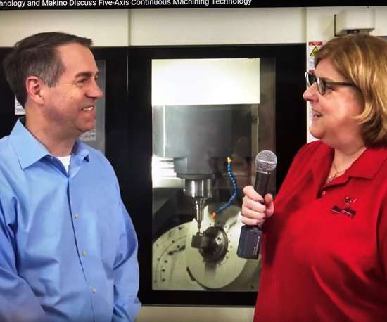 MoldMaking Technology Senior Editor Cyndi Kustush interviews Makino's Greg Pozzo about five-axis continuous machining