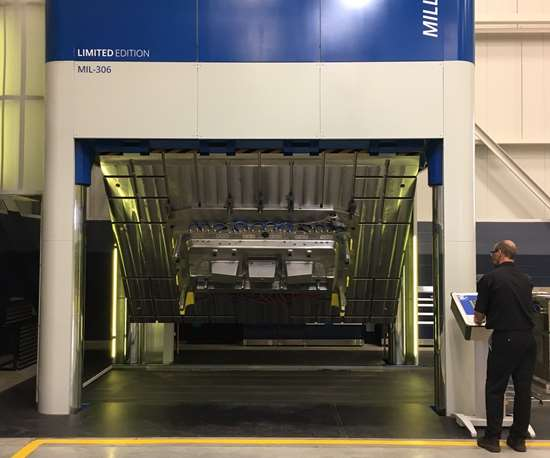 Millutensil MIL-306 500-ton spotting press at Cavalier Tool & Manufacturing