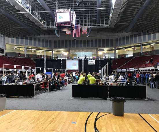 The Team PIT area at the NRL National Battle Bots Competition