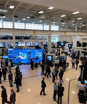 Aerial shot of DMG MORI Innovation Days 2019 in Chicago