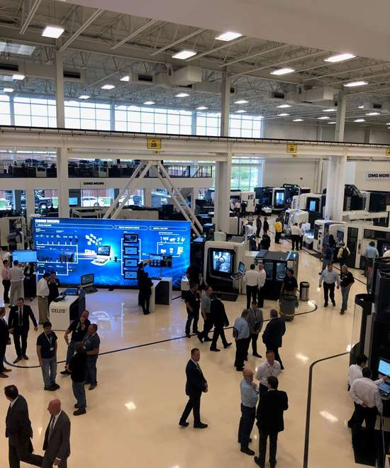 Aerial shot of DMG MORI Innovation Days 2019 in Chicago