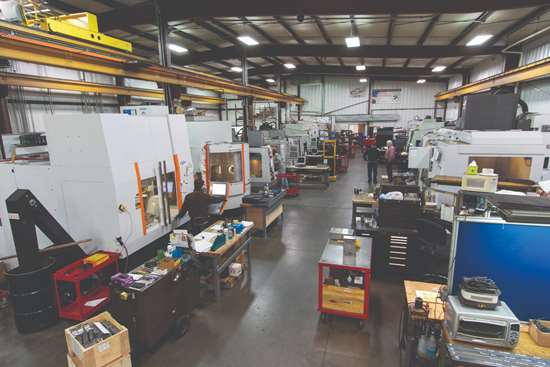 Shop floor view at Maximum Mold Group