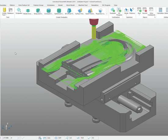 Autodesk PowerMill 2019 screen shot