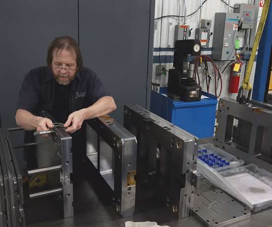 Ken Thrasher, master mold maker at X-Cell Tool and Mold