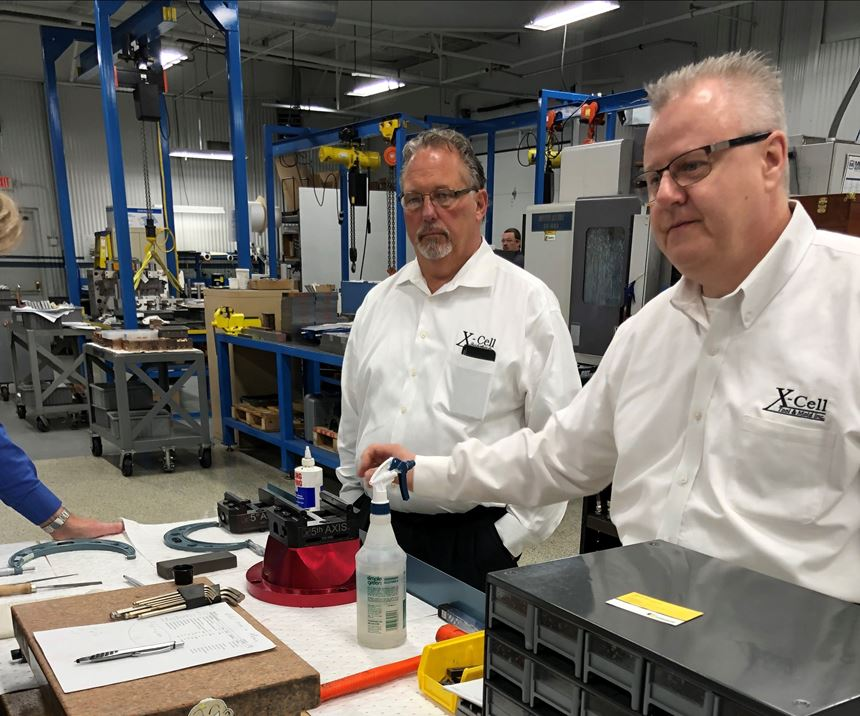 X-Cell Tool and Mold Owner Ron Novel and Operations Manager Brian Dippel