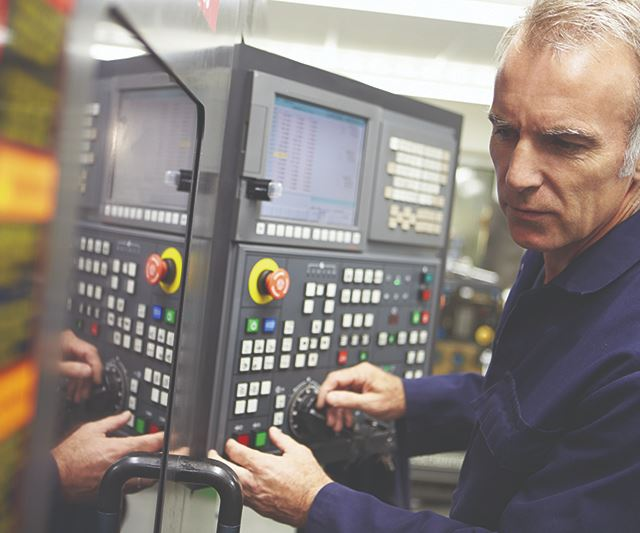 man at machine tool