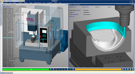 CGTech Vericut version 9.0 CAM software screenshot