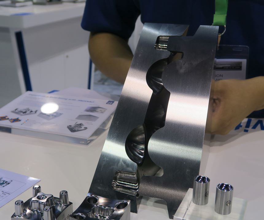 Test workpiece displayed by Jingdiao North America at Amerimold 2019