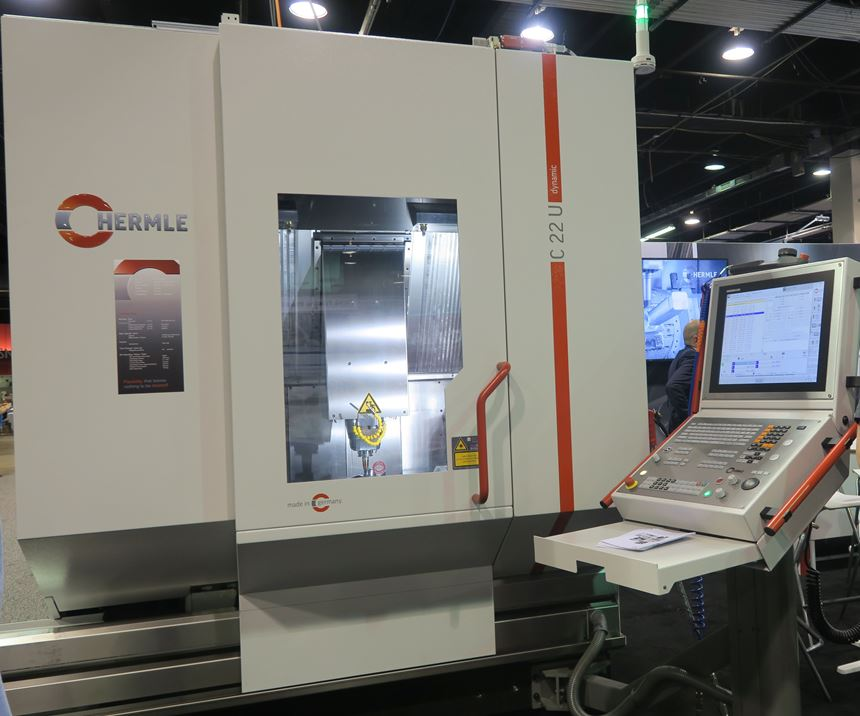 Hermle C22 displayed on the Amerimold 2019 show floor.