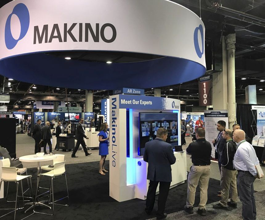Makino booth at Amerimold 2019